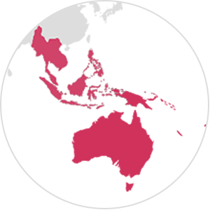 Australia, New Zealand and South East Asia
